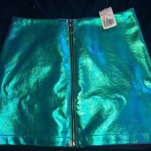 Forever 21 Iridescent Mini Skirt
